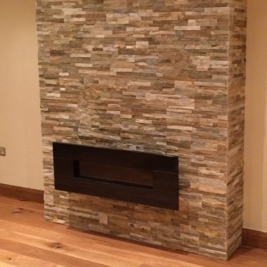 Chimney breast tiling (Tilehurst)